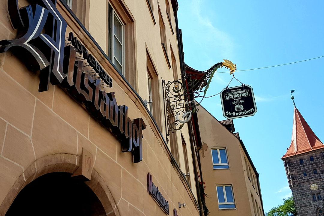 Aussenansicht Hausbrauerei Altstadthof Nürnberg